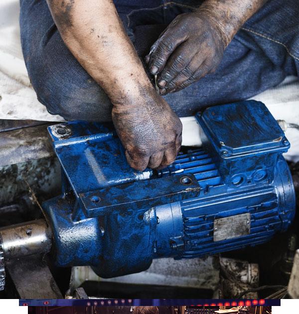 Industrial motor repair one year warranty accu for Industrial electric motor repair